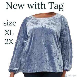 bundle&save  NWT volume sleeve boho velvet  top